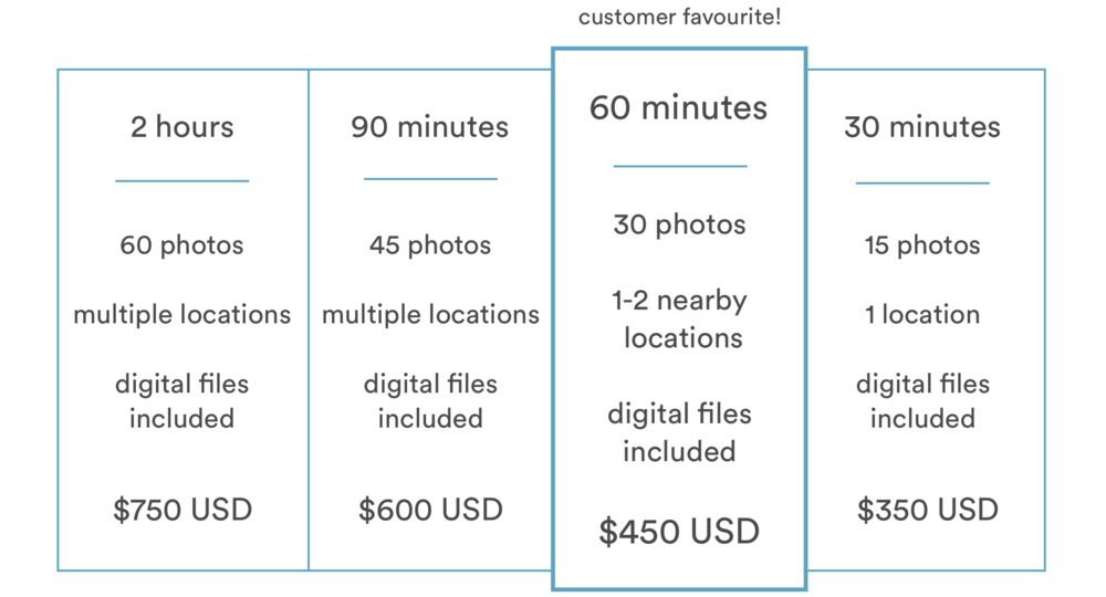 Proposal Package Pricing Infographic
