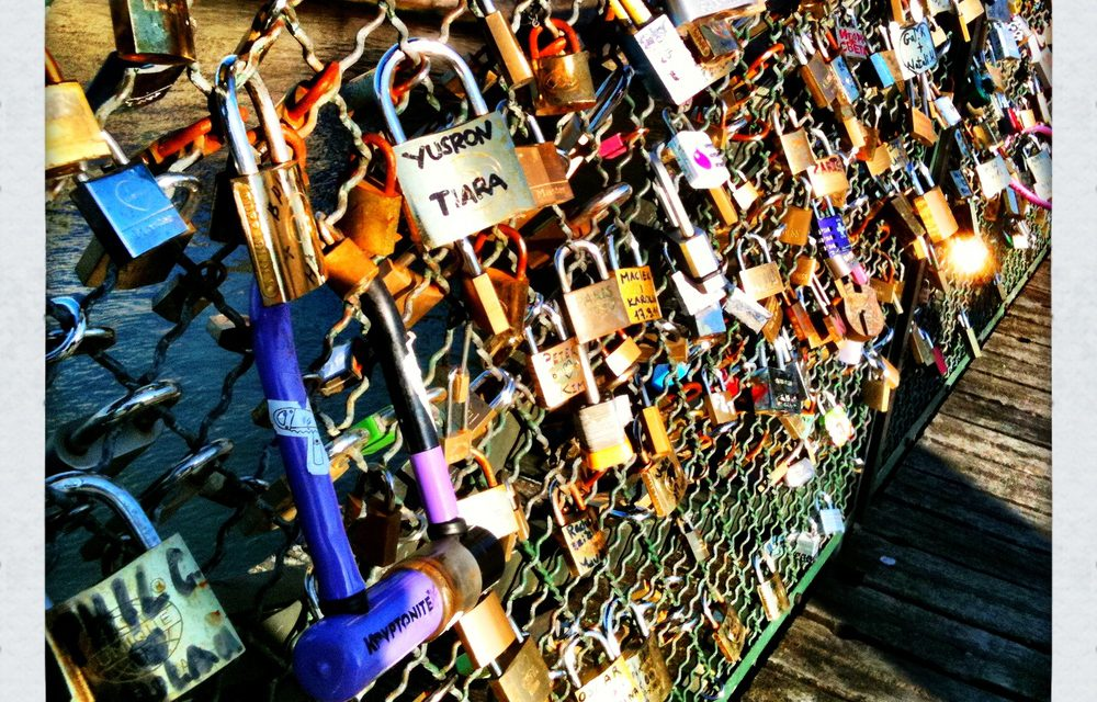 A Love Lock in Paris. 29 Years & Still Smitten. The Story of Joyce and Scott.