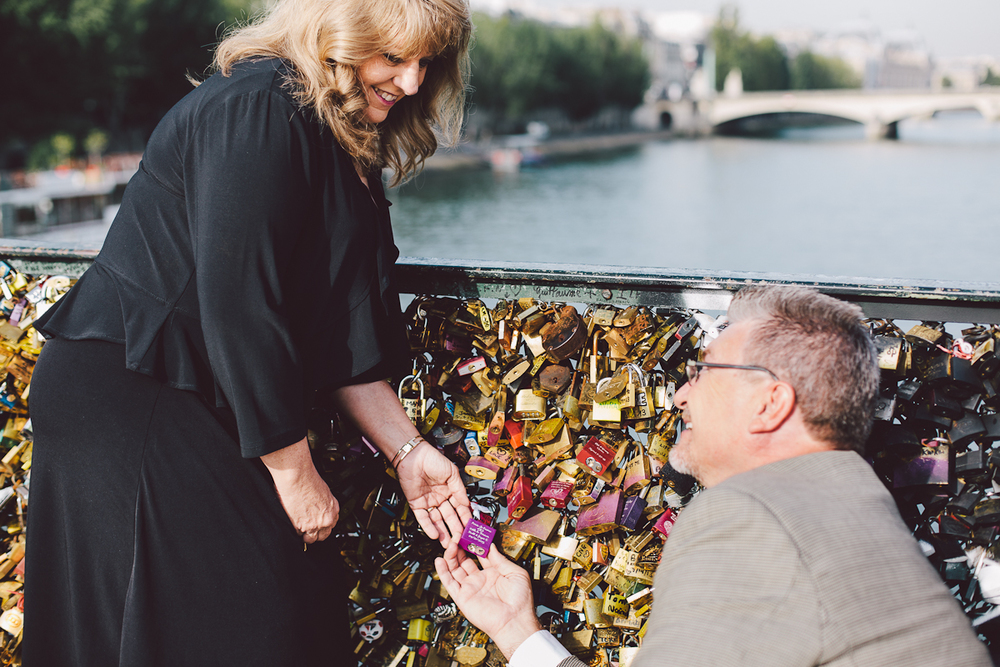 Love locks pont des arts. paris. vacation photographer. romantic anniversary