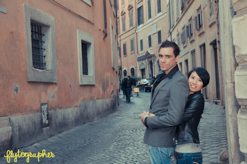Romantic engagement photos in Rome. Vacation Photographer.