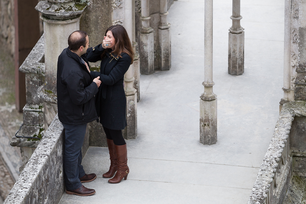 Surprise proposal in Lisbon, Portugal. Destination vacation photographer