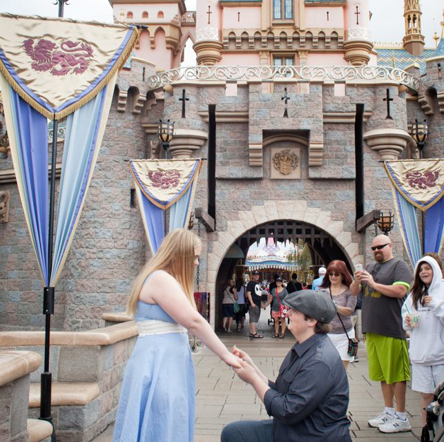 Fairytale Proposal Outside Cinderella's Castle | Vacation Photographer in Disneyland