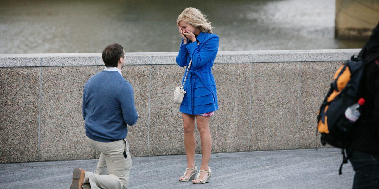 Surprise Proposal at Tower Bridge in London