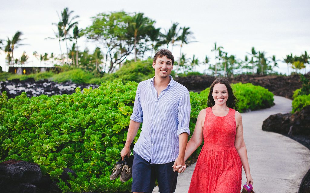 Slow Dancing and Water Fights  /// Fun Honeymoon Photo Shoot in Hawaii.