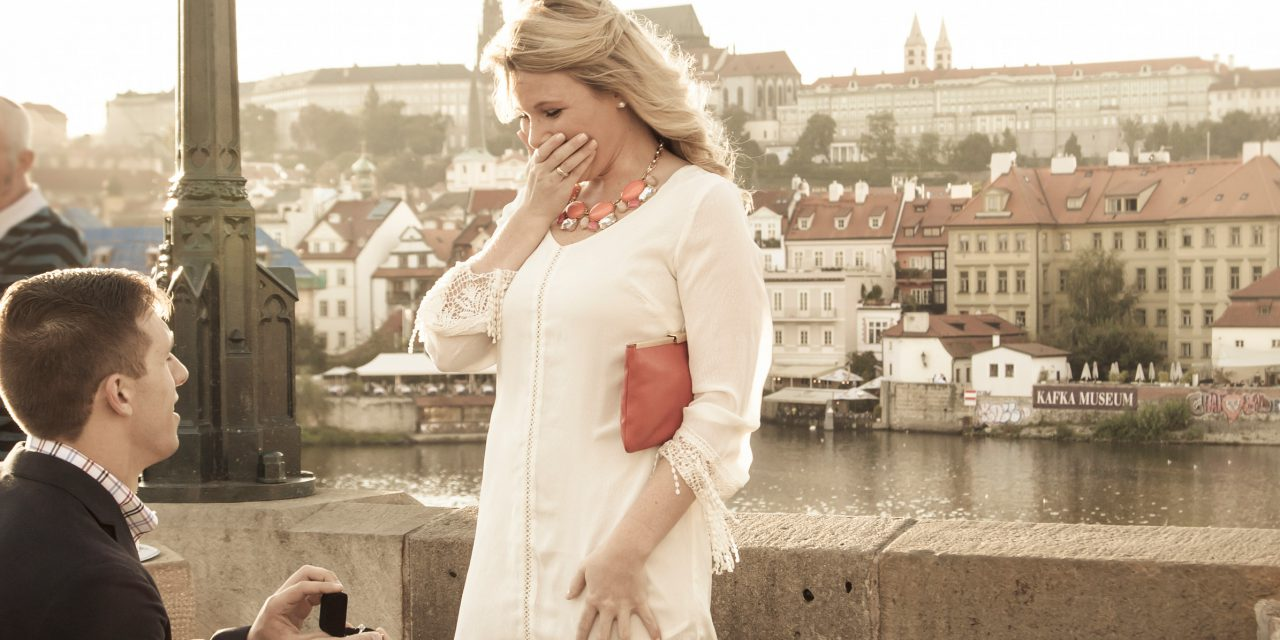 Surprise Proposal in Prague on the Charles Bridge | Prague Proposal Photographer