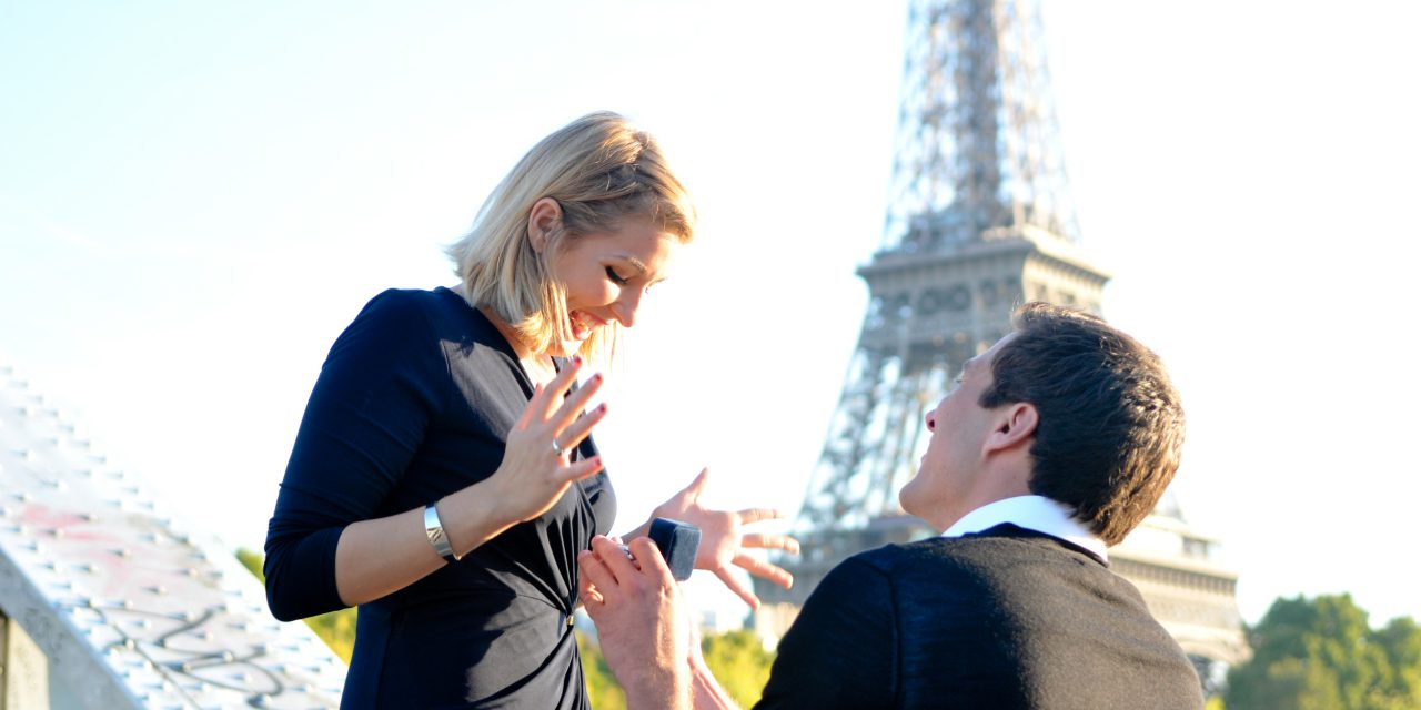 Dream Surprise Proposal Near Eiffel Tower  | Paris Proposal Photographer