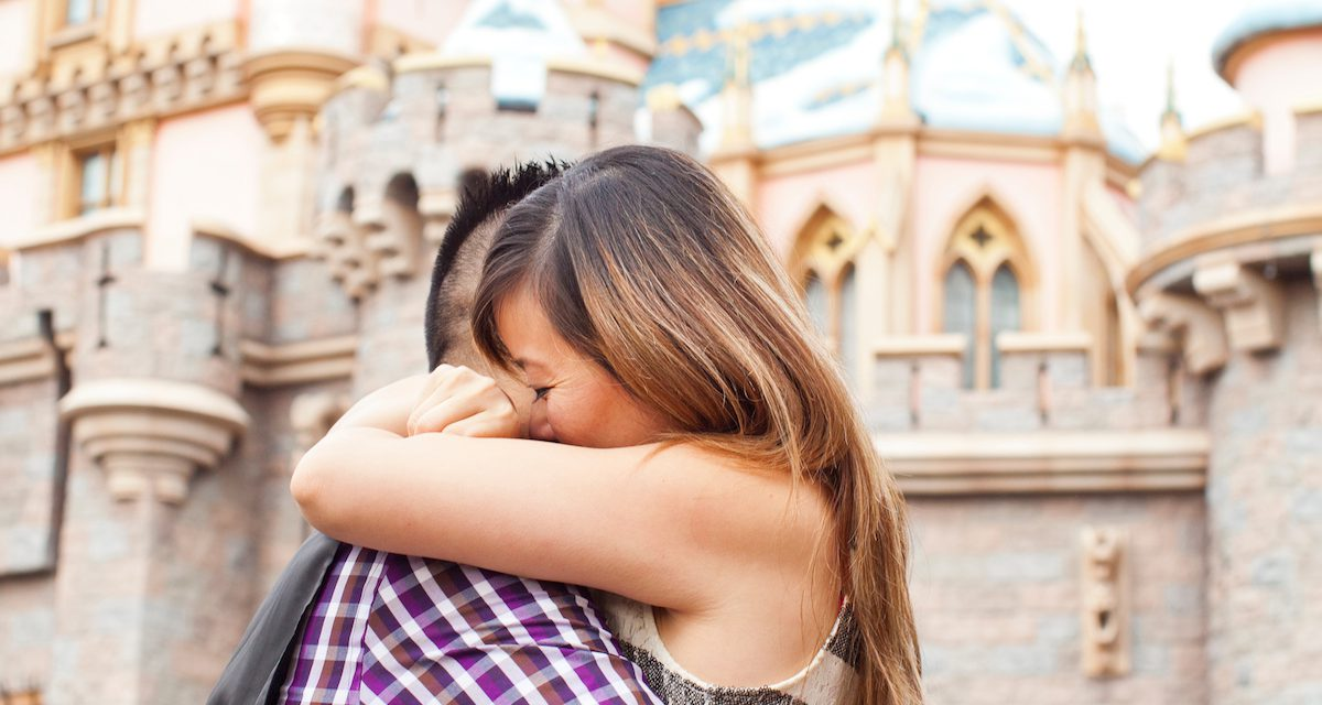 'YES!' is the Magic Word | Disneyland Proposal Photographer