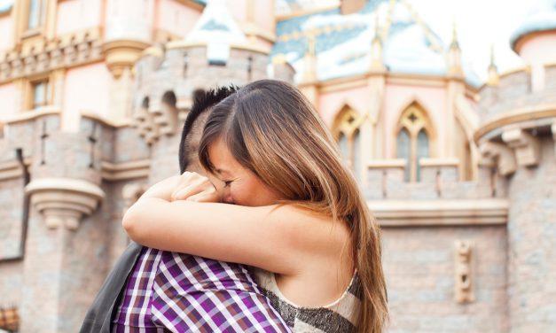 'YES!' is the Magic Word   Disneyland Proposal Photographer