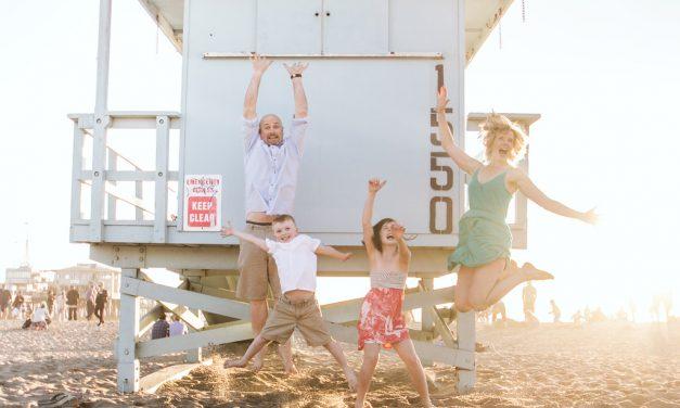 Family Vacation Beach Fun at the Santa Monica Pier