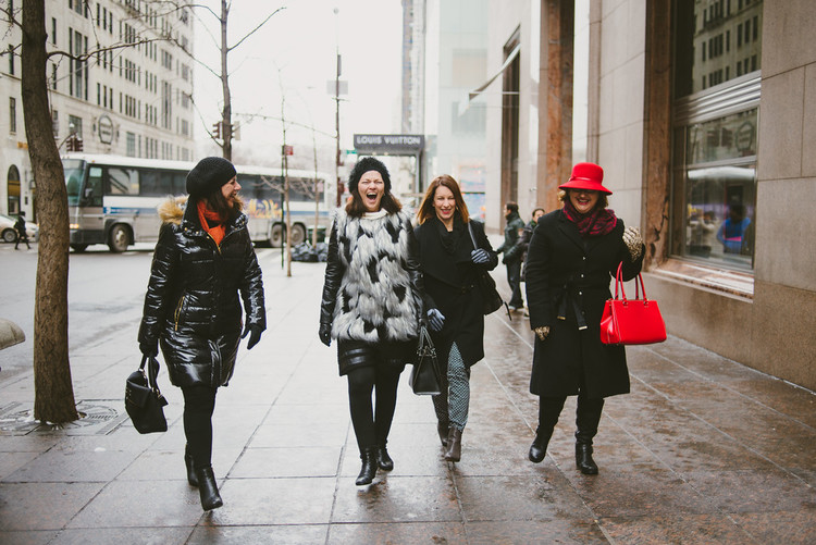 Fifth Ave, Four Friends and a Fantastic Photographer in NYC