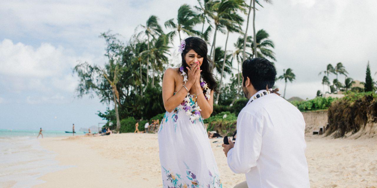 A Beachy Proposal in Honolulu