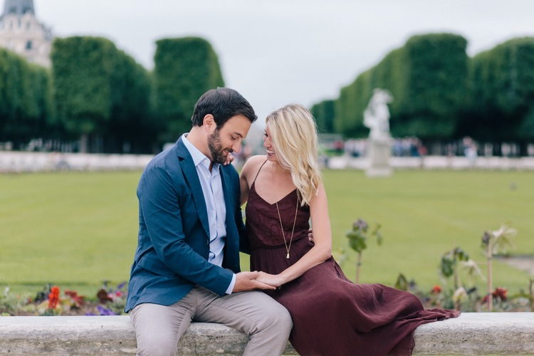 A Romantic Surprise Garden Proposal in Paris | Paris Proposal Photographer