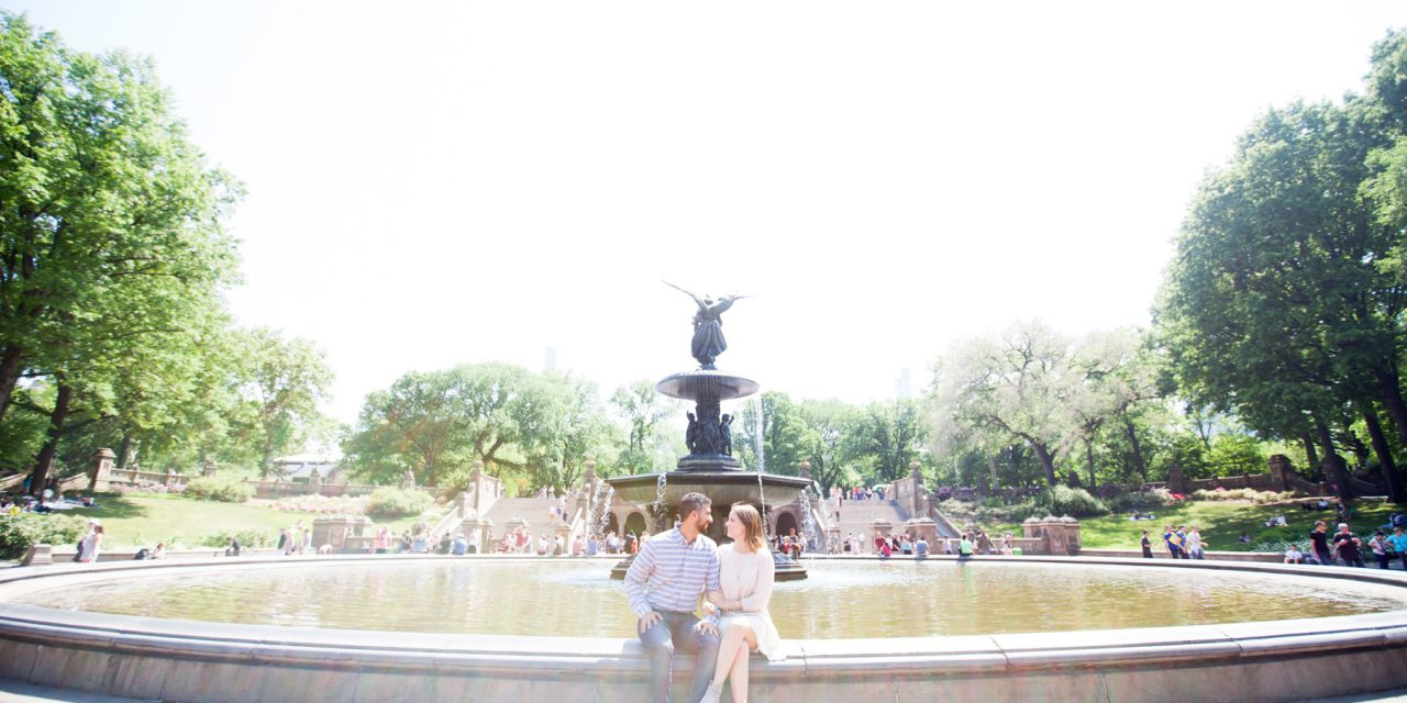 Engagement Excitement in Central Park | New York City Vacation Photographer