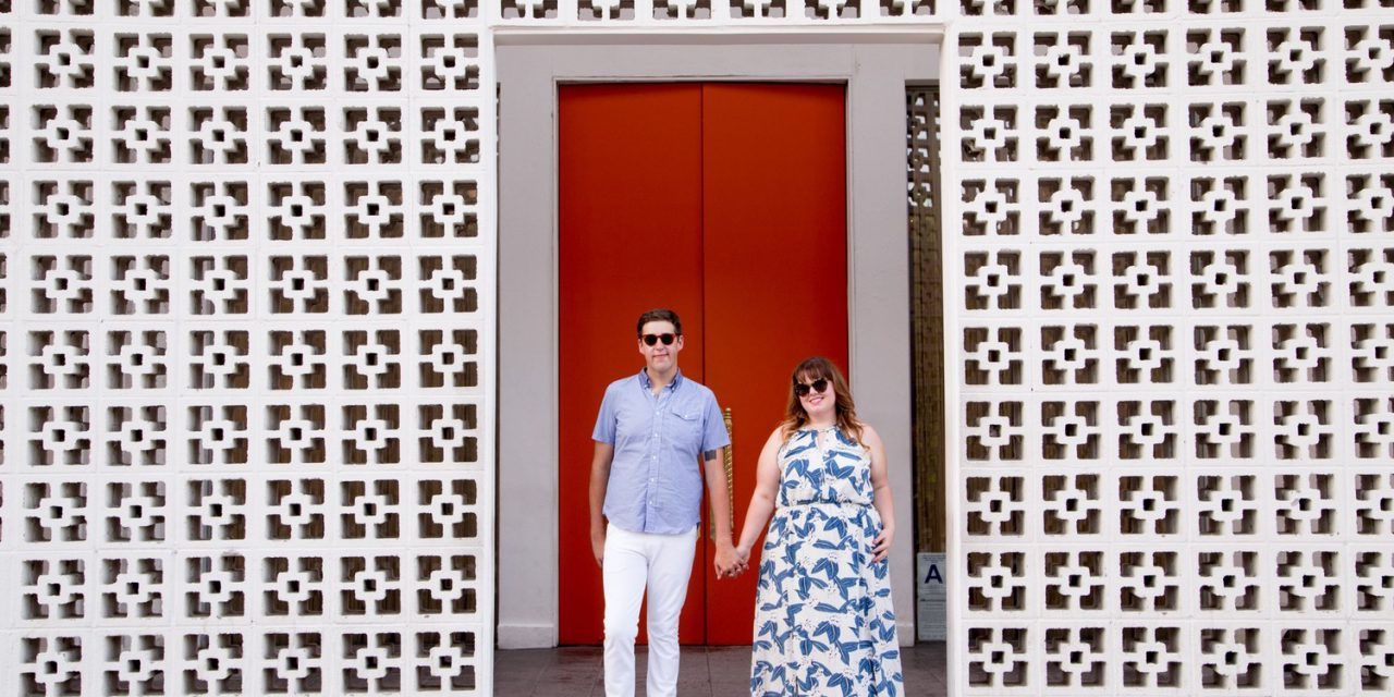 A Mod Palm Springs Proposal Getaway | Palm Springs Vacation Photographer
