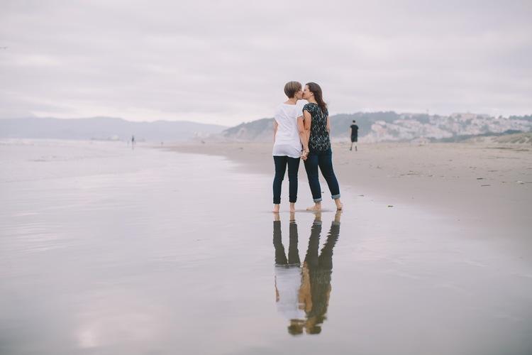 Seashells, Sand & Surprises | San Francisco Proposal Photographer