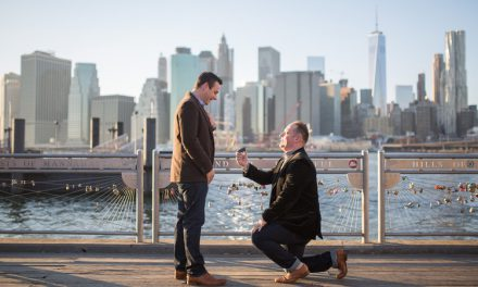 A Sweet Surprise DUMBO Proposal   New York City Proposal Photographer