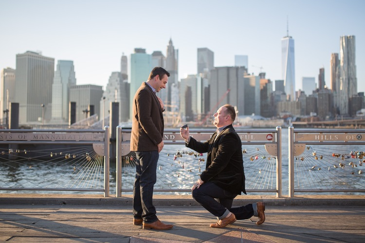 A Sweet Surprise DUMBO Proposal | New York City Proposal Photographer