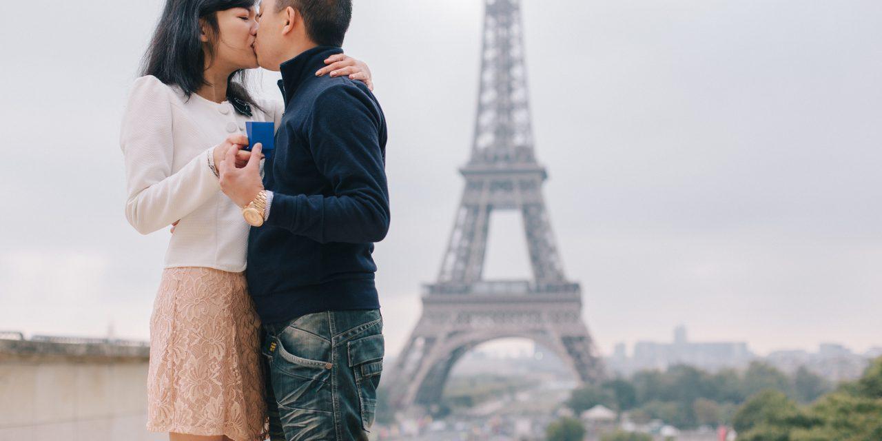 Surprise Parisian Proposal on the Trocadero