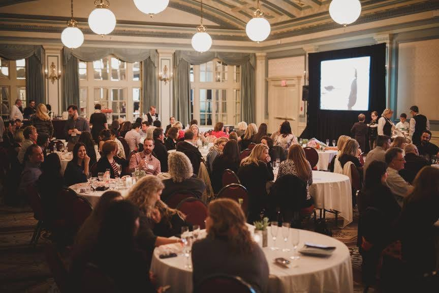 Fairmont Empress  threw us a viewing party at their gorgeous Crystal Ballroom in October.