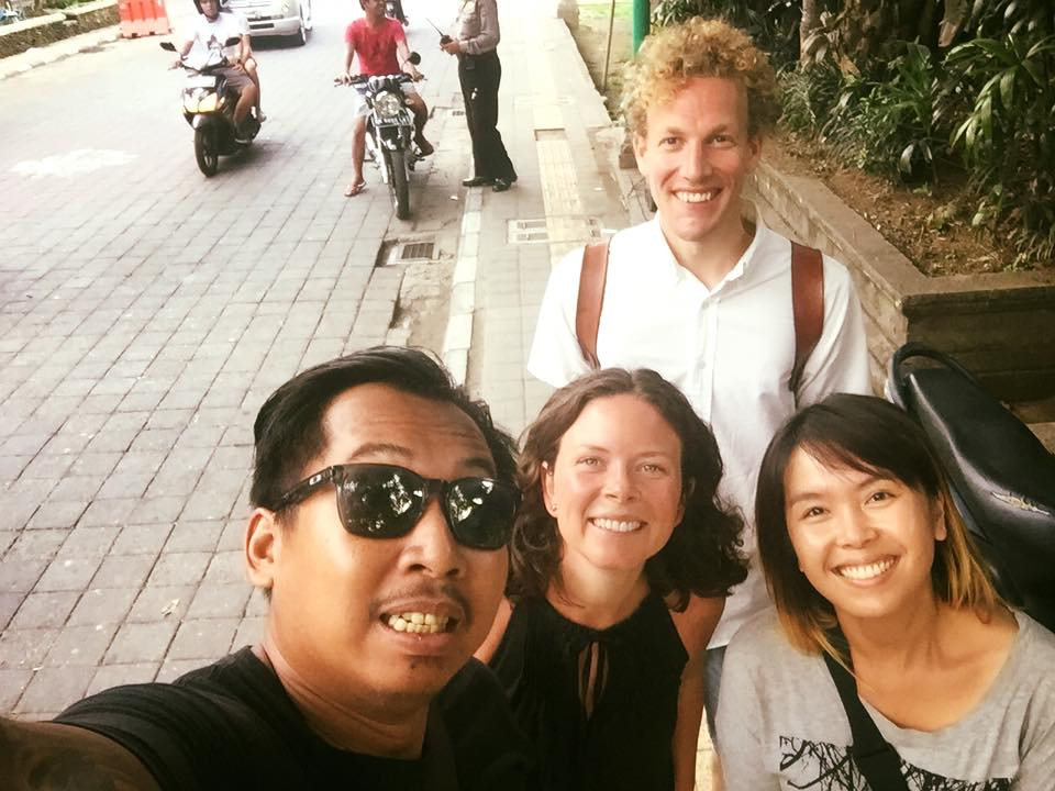 Tara, our Creative Director, and her husband (centre) enjoyed time with  Bayu & Vony in Bali .