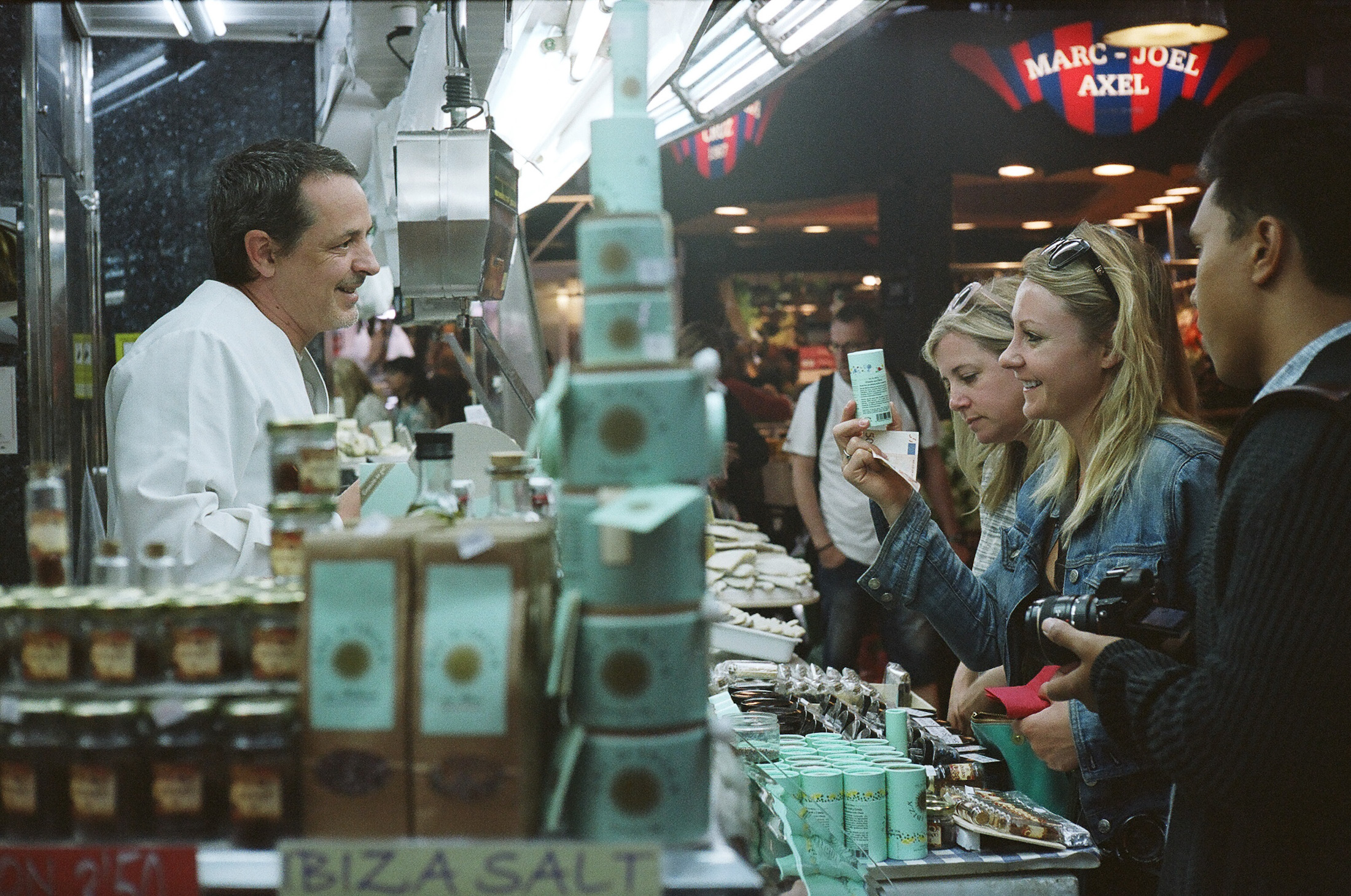 Shopping at La Boqueria. Captured by Johnny