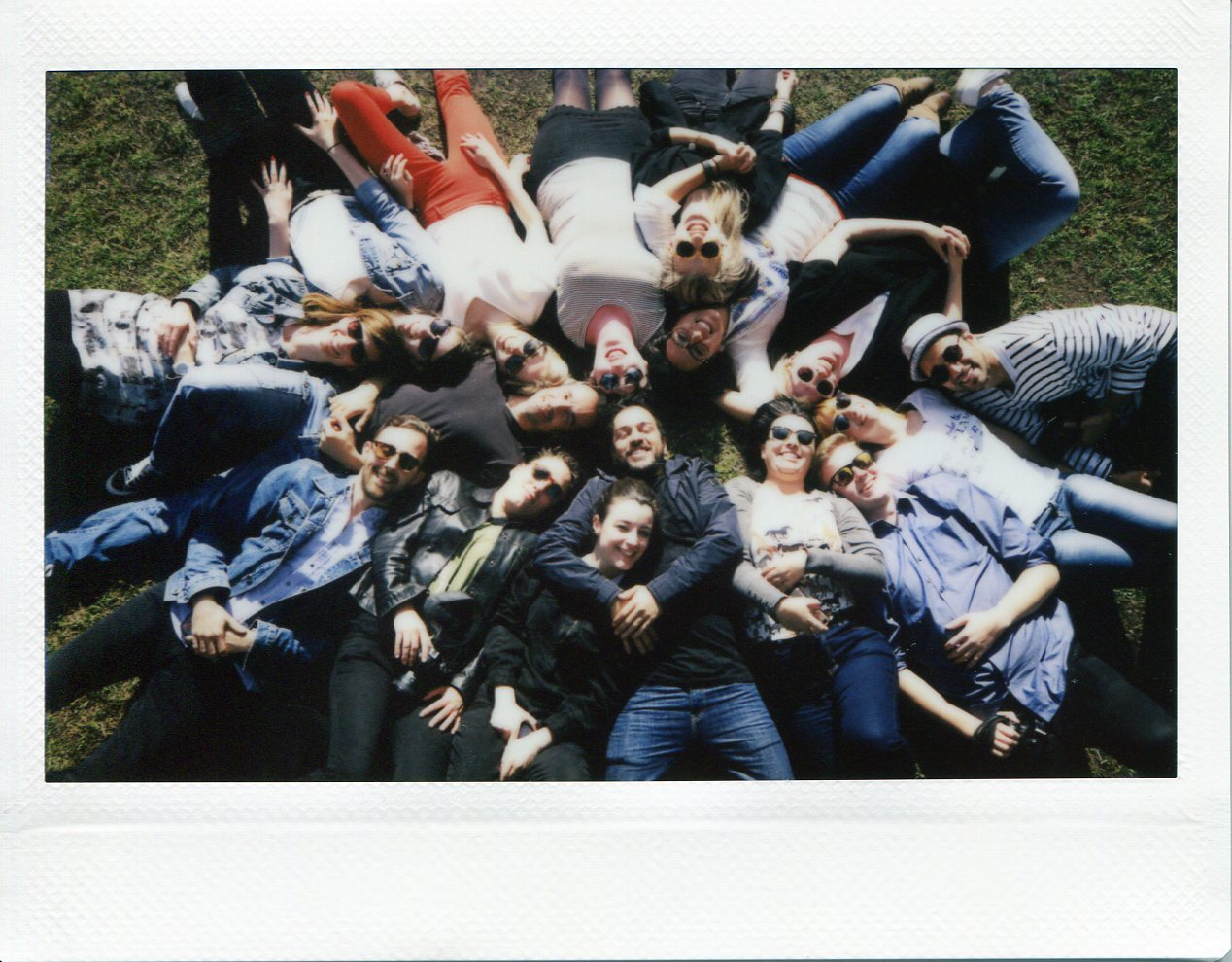 Group photo at Fairmont. Captured on polaroid by Mankica