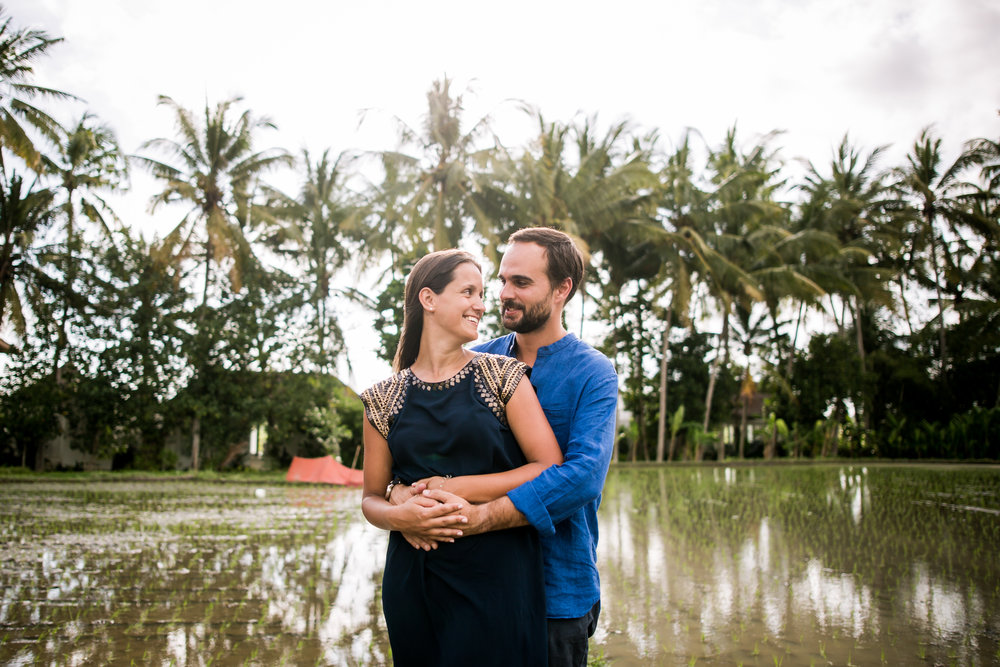 Bayu and Ivony in Bali for Flytographer