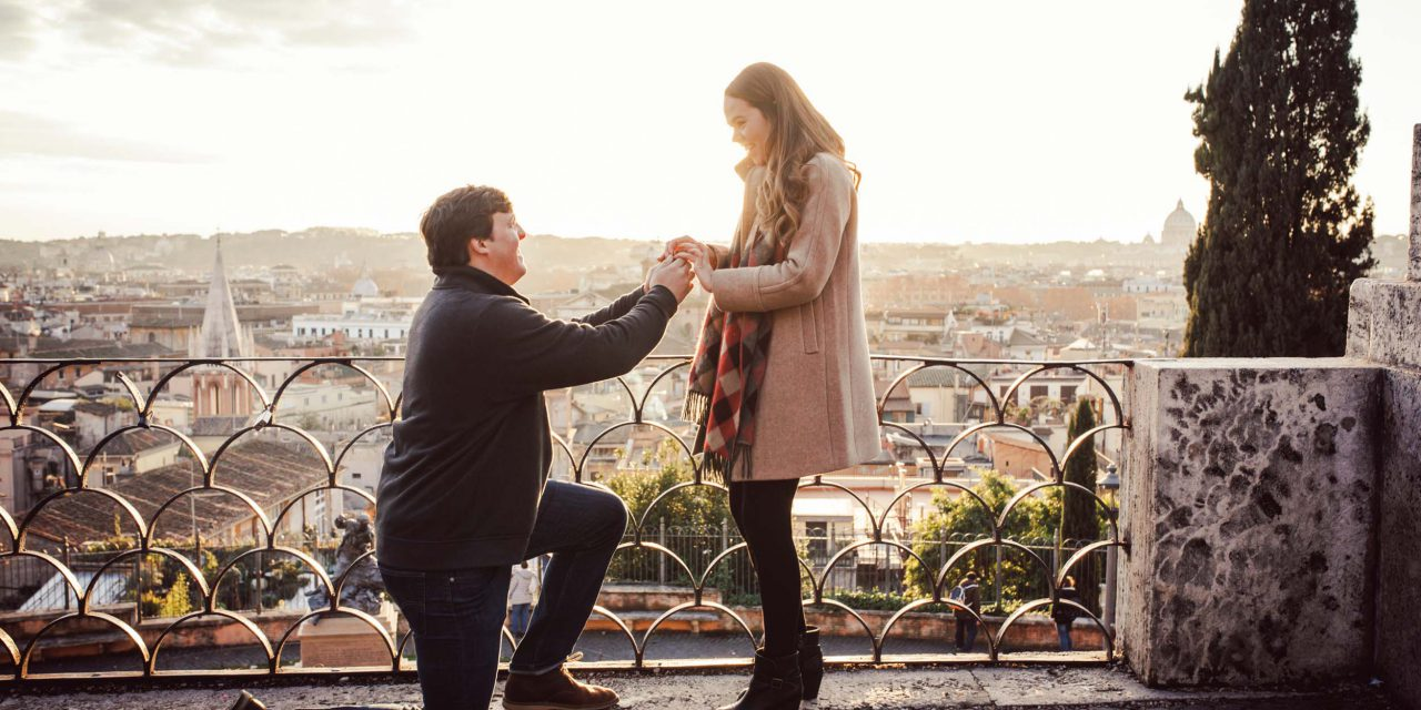 A Dreamy Surprise Proposal in Rome