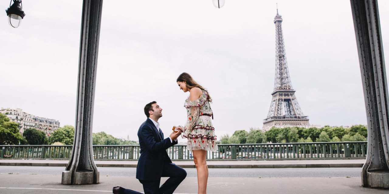 A Romantic Eiffel Tower Surprise Proposal in Paris