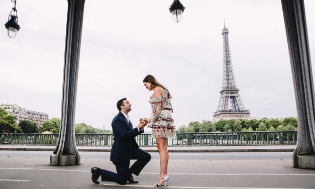A Romantic Eiffel Tower Surprise Proposal in Paris