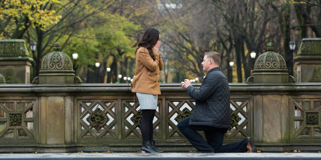 A Father-Son Heart to Heart Leads to a Romantic Surprise Proposal in NYC