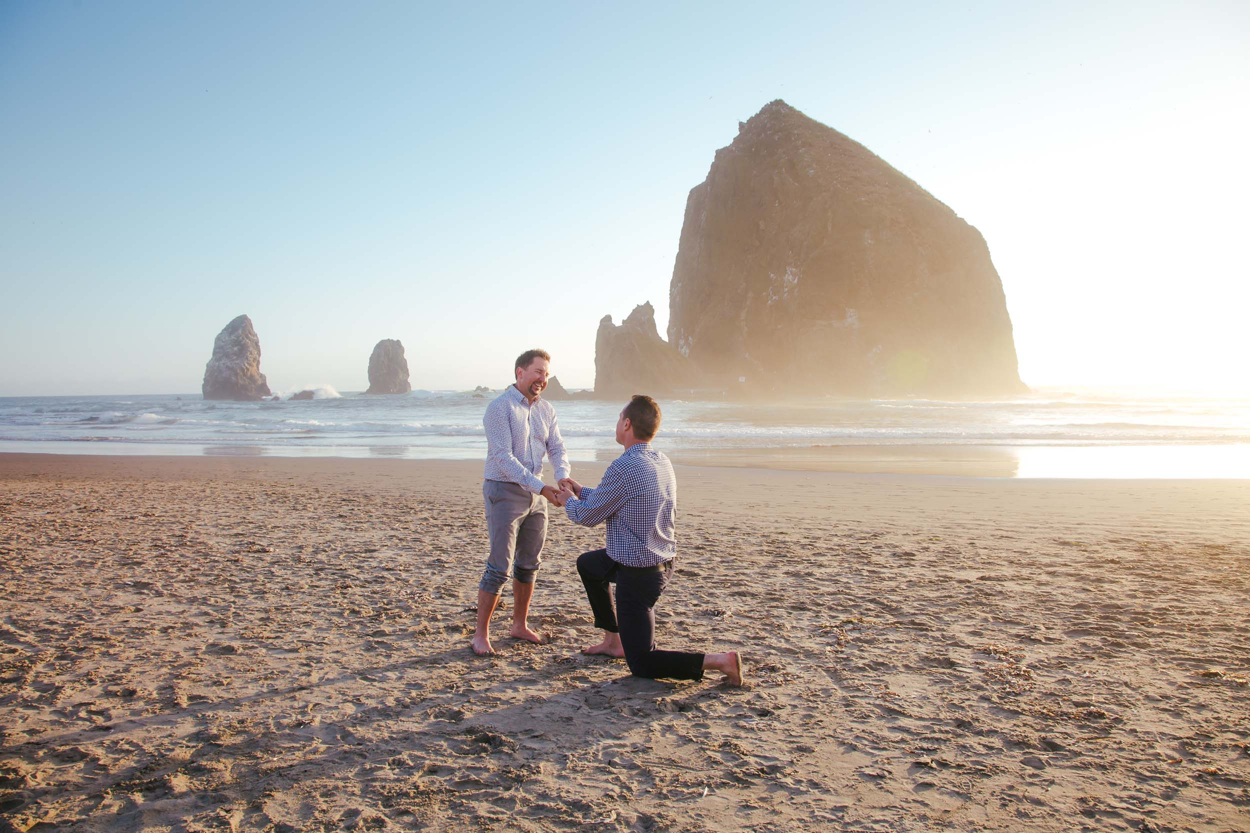 A Cannon Beach Proposal Straight Out of a Dream