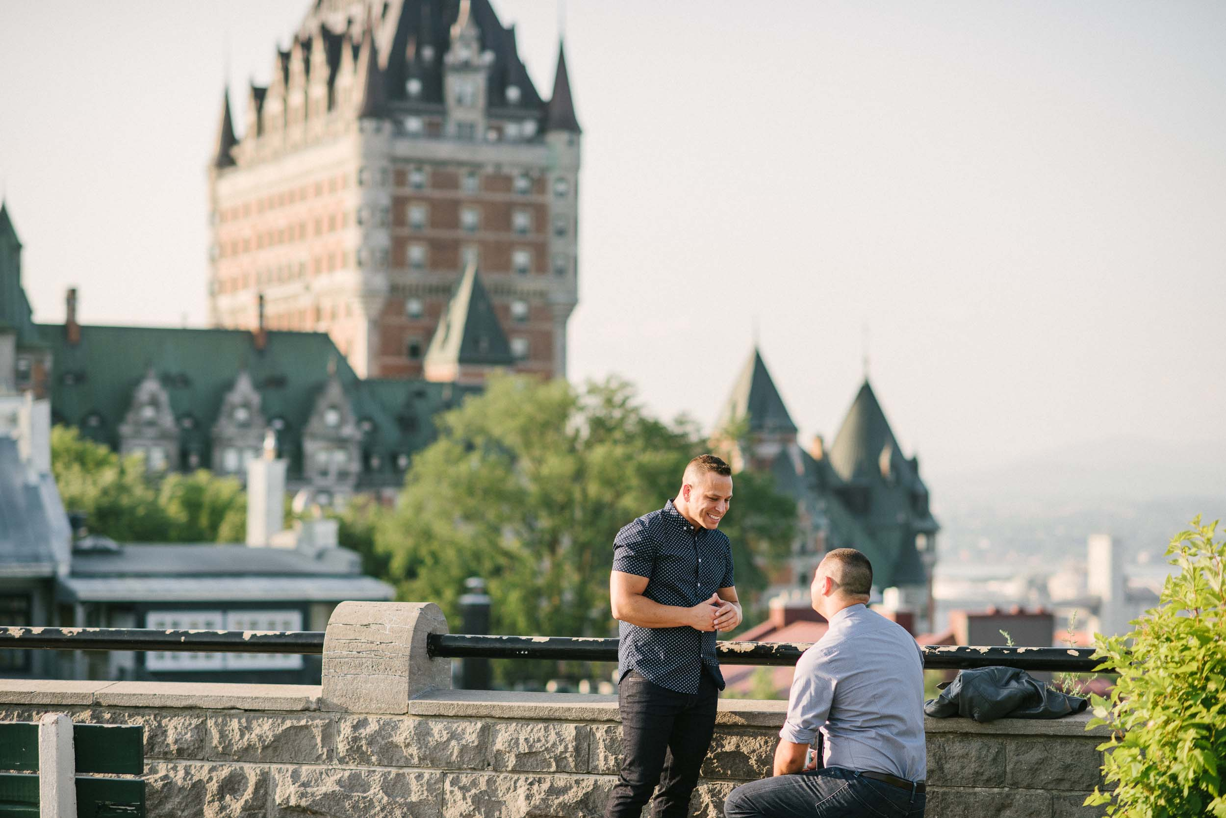 A Cute Proposal in Storybook Quebec