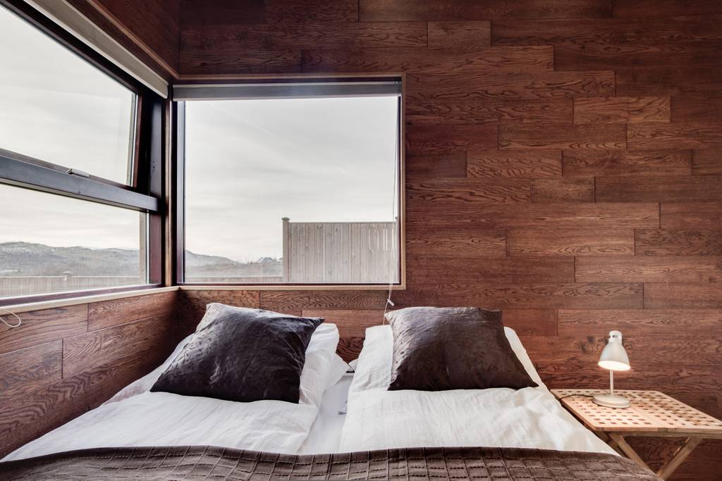 One of the four bedrooms in the Iceland villa. (Photo: Courtesy Airbnb)
