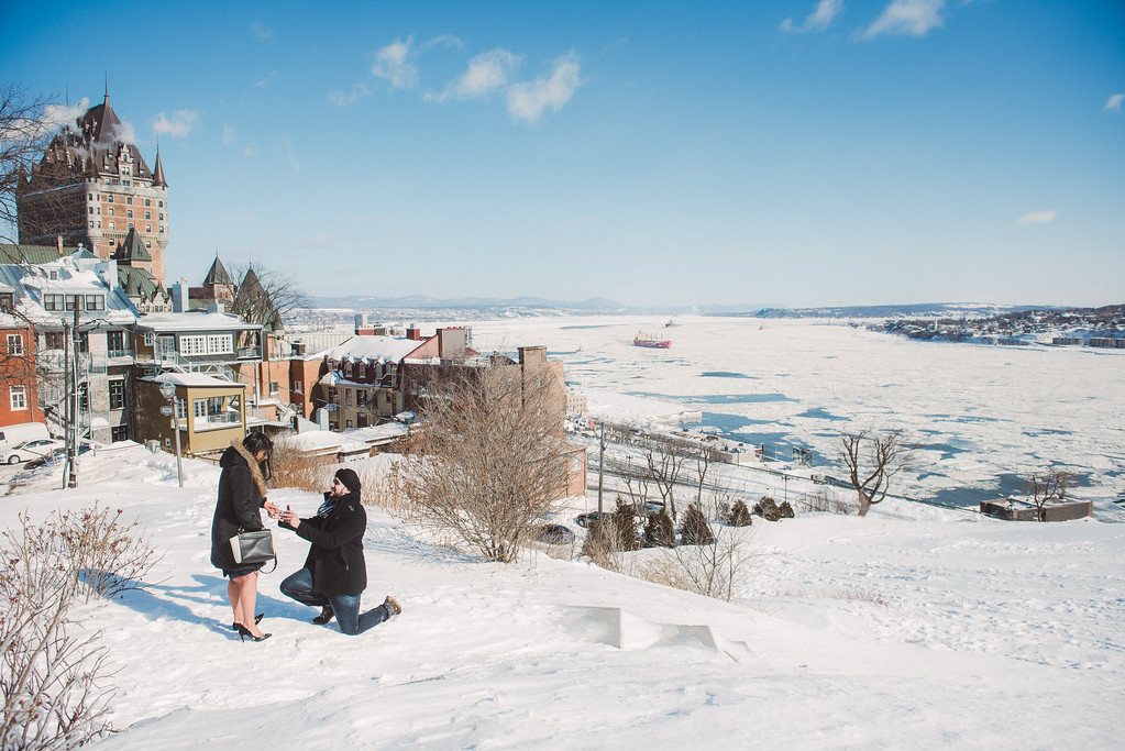 A snowy morning in Quebec City in Quebec, Canada. (Photo: Flytographer Francis in Quebec City)