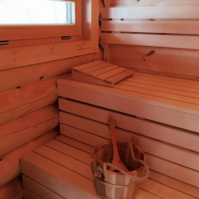 Hello, sauna! At the Hütte am Wald in Salzburg, Austria. (Photo: Courtesy Airbnb)
